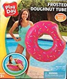 PlayDay Donut Tube Strawberry Pool Floater (35in * 33in * 9in) for Ages
