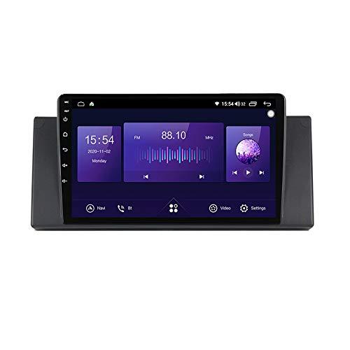 TypeBuilt Autoradio Android 10.0 Navigazione GPS 9 Pollice Video Touch Multimedia per BMW E39 M5 1999-2003 Supporto RDS BT Radio FM MA 12V Dab Chiamate in Vivavoce SWC,7862 4g+64g
