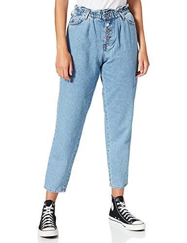 Only ONLCUBA Life HW Slouchy CA LBDNM JNS Dot Jeans, Mezclilla De Color Azul Claro, XL para Mujer