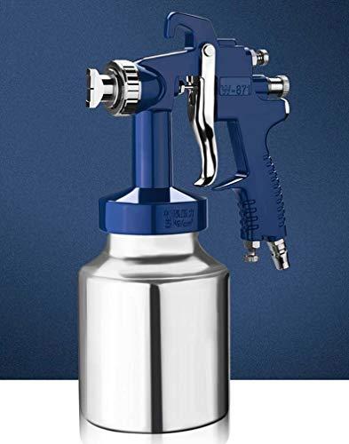 Zwq&zj Water-in-water kleurrijke verf latex verf spuitpistool, verf interieur muurverf spuit verf pneumatisch gereedschap, kaliber 2.5mm zuignap type