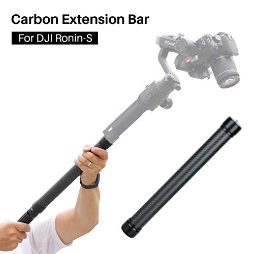 Linghuang Carbon Verlängerung Einbeinstativ kompatibel für DJI Ronin S Moza Air Cross FeiyuTech AK4000 Zhiyun Crane 2 Smooth 4 Stabilisator Extension Rod Stick 1/4 '' 3/8 '' Gewinde