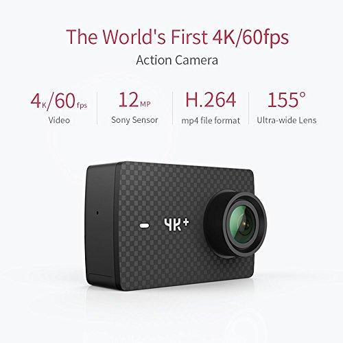 YI 4K Plus Action Kamera Schwarz 4K/60fps 12MP Wasserfest - 2