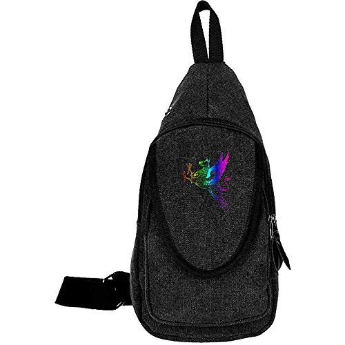 Sling Bag Crossbody Colored Gryphon Shoulder Canvas Chest Bag Shoulder Backpack Travel Daypack,pattern 33