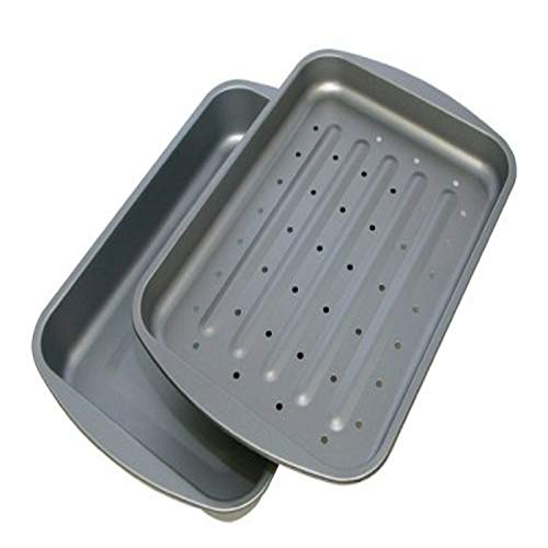 G & S Metal Products Company OvenStuff Nonstick Bake and Roasting Pan, 10.5 x 2 x 14.5 inches, Gray