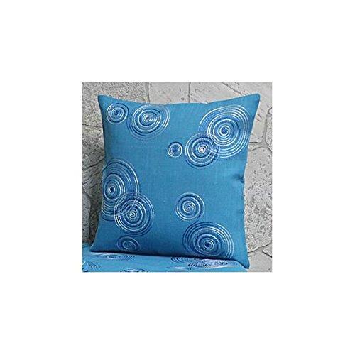 Hossner Kissenhülle, Kissenbezug LUGAU 40x40cm türkis blau Kreise Polyester