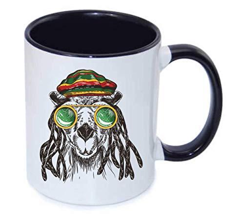 Druckerlebnis24 Tasse - Kamel Brille Jamaika Cannabis - Kaffee-Tasse 330ml - Unisize aus Keramik - Tee
