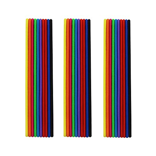 Charlotte 30Pcs Thin Elastic Headbands Sweatband for Men and Women No Metal Ouchless Hair Flat Narrow Headwrap