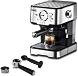 Espresso Machines Cappuccino Machine 15 Bar with Milk Frother Wand for Espresso, Cappuccino, Latte and Mocha, For Home Barista, 1.5 L large Removable Water Tank and Double Temperature Control System