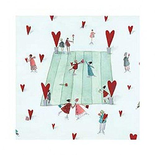 1art1 Silke Leffler - Eisläufer Herzen Poster Kunstdruck 30 x 30 cm
