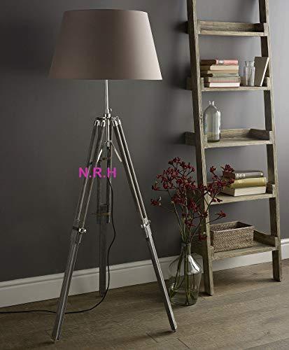 Vintage clásico gris trípode lámpara de pie náutico lámpara de pie decoración del hogar lámpara