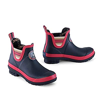 Pendleton Women's Heritage National Park Chelsea Ankle Length Slip-Resistant Rain Boot, Acadia Black, Size 10