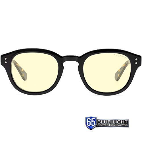 Gunnar Gaming- & Computerbrille | Model: Emery, Rahmen: Onyx/Jasper, Linse: Amber | Anti-Blaulicht-Brille | Patentierte Linse, 65% Blaulicht & 100% UV-Lichtschutz zur Verringerung der Augenbelastung