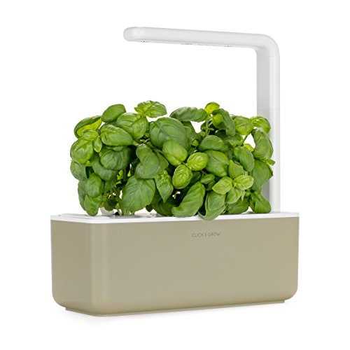 Click & Grow Smart Garden 3 Indoor Herb Garden (Includes Basil Plant Pods), Beige