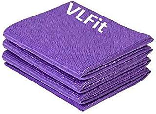 VLFit Esterilla de Yoga Antideslizante - Colchoneta de 173 x 61 x 0,6cm - Alfombra Plegable para Entrenamiento Gimnasia y Pilates