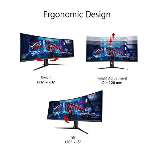 Asus ROG Strix XG43VQ 109,22cm (43 Zoll) HDR Gaming Monitor (Ultra HD, 120Hz, FreeSync 2 HDR, DisplayHDR 400, Shadow Boost, 1ms Reaktionszeit) schwarz