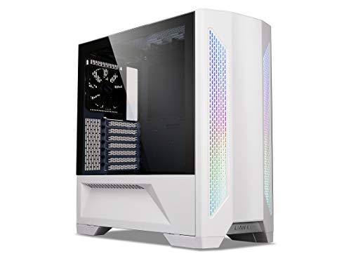 Lian Li LANCOOL II Midi-Tower Gaming-Gehäuse Weiß 3 vorinstallierte Lüfter, Integrierte Beleuchtu