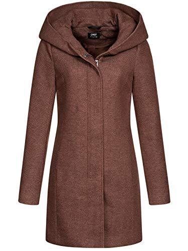 Only ONLSEDONA Light Coat OTW Noos Abrigo, Chocolate Fondant/Detail:Melange, S para Mujer