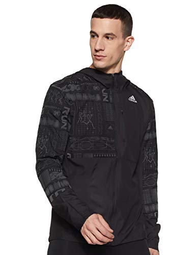 adidas Herren Own The Run Jacke, Black/Refsil, S