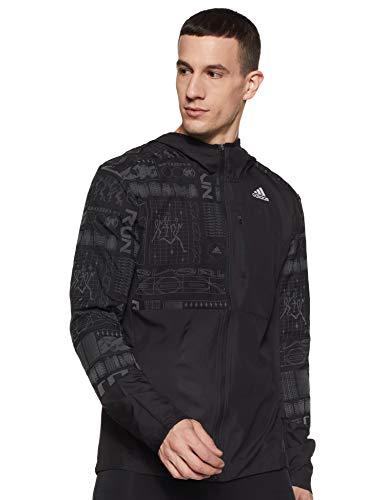 adidas Herren Own The Run Jacke, Black/Refsil, XL