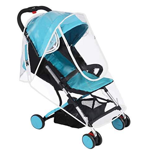 Ewendy Universal Kinderwagen Regenschutz, Winddichte wasserdichte Abdeckung für Kinderwagen/Jogger/Buggy/Rundumschutz, 3 Größen (L)