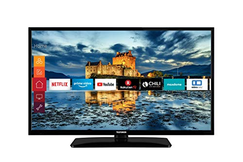 Telefunken D39H500X1CW 39 Zoll Fernseher (HD ready, HDR10, Smart TV, Bluetooth, Alexa / Google Assistant, Triple-Tuner)
