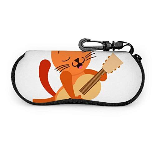 Funda protectora para gafas con diseño de gato doméstico y rock, para mascotas