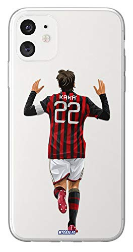 MYCASEFC - Cover Calcio Personalizzabile Kaka Huawei Honor 8X in Silicone Custodia di Calcio per Smartphone Personalizzata e Realizzata in Francia in TPU