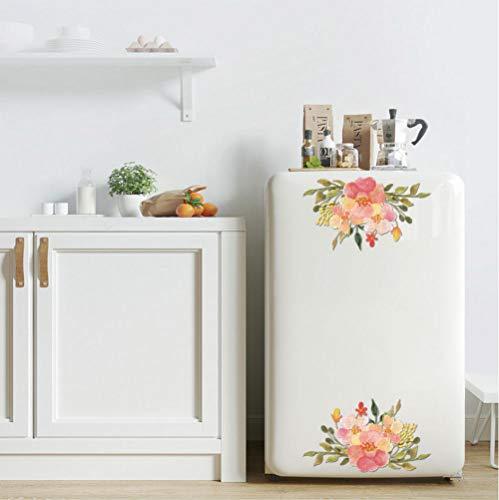 GVFTG Bloemen Bloom Rijke Muurstickers Koelkast Kast Toilet Glas Diagonale Stereo Decoratieve Persoonlijkheid Stickers Ins Achtergrond Muur Meisje 20X30cm