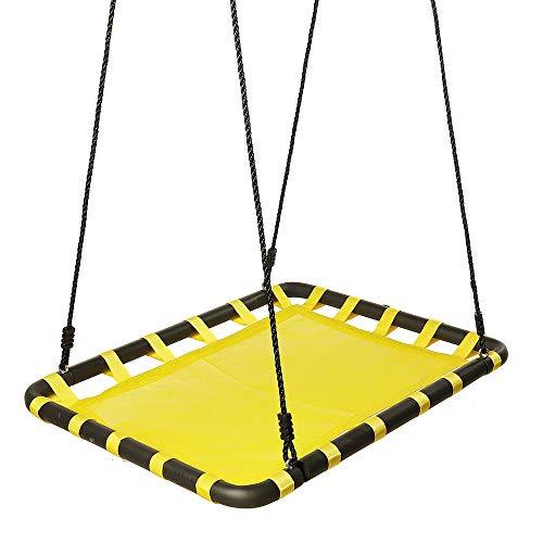 Siuber Juguetes de Swing de Plataforma de Tela Oxford, Marco de Acero Duradero, Resistente al Agua, Cuerdas Ajustables, para niños niños Juego de Juguetes Deportivos al Aire Libre