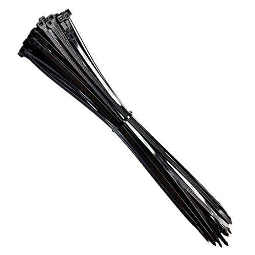 Kabelbinder, Rscolila Nylon Kabelbinder 300mmx5 mm Hochleistungs Schwarz Kabelbinder für das Kabelmanagement (100 Stück) (300mmx5mm, Schwarz)