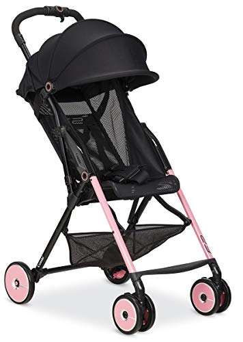 Combi Ultra Lightweight F2 Umbrella Stroller | 7.9 Lbs Best in Class Weight | Reclining Back & Shock-Absorbing Frame | One-Touch Harness w/Full Mesh Seating | Easy Lock Wheels & XL Canopy | Pink