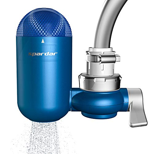 Spardar Wasserhahn-Wasserfilter, mehrschichtiger Küchenwasserhahnfilter, Wasserhahn-Wasserreiniger, Filterschalter mit Keramik-Filterkartusche (08 Wasserhahn-Filter)