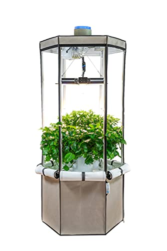 Aerospring Grower's Edition 2.0 9-Plant Vertical Hydroponic Growing System - Patented Hydroponic Kit For Indoor Growing - Tent, Grow Lights, Carbon Filter & Fan - Grow Flowering And Fruiting Plants