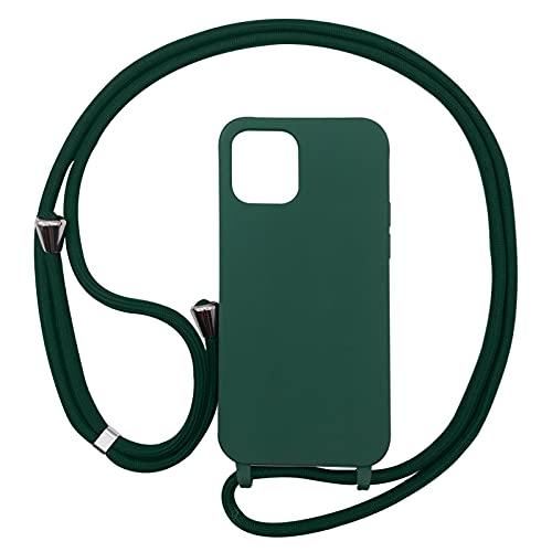 PuYu Zhe Custodia Compatible con iPhone 12 Mini,Cover con Pratico Cordino,Silicone TPU Cover...