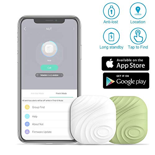 Evershop Smart Key Finder Anti-Lost Tracker Bluetooth Tracker GPS Locator Wallet Phone Key Anti-Lost Bidirectional Alarm Reminder for Phone, Pets, Keychain, Wallet,Luggage(2 Colors)