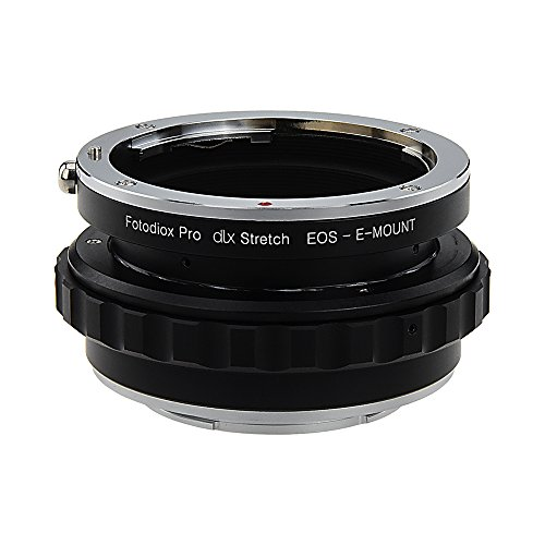 Fotodiox DLX Stretch Lens Mount Adapter - Canon EOS (EF/EF-S) D/SLR Lens to Sony Alpha E-Mount Mirrorless Camera Body met Macro Focusing Helicoid en Magnetic Drop-In Filters