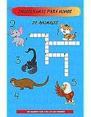 Crucigramas para niños de animales: crucigramas fáciles para niños pequeños de animales: crucigramas fáciles para niños pequeños