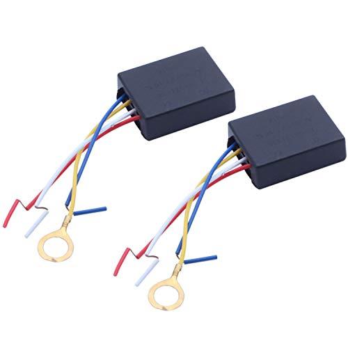 Tamkyo 2 X 110V Control de Interruptor de Sensor TáCtil de 3 VíAs para ReparacióN de Atenuador de Bombilla de Escritorio de LáMpara