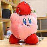 Juguetes de Peluche Lindo Kirby Star Almohada de Felpa Juguete de Peluche de Dibujos Animados muñeco de Peluche Suave sofá cojín decoración Regalo para niños 45cm Fresa