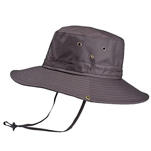 WANYIG Cappelli Uomo Estivo Tesa Larga Cappello da Pesca Antivento Cappello Pescatore con Protezione UV UPF50+ Asciugatura Rapida Traspirante(caffè)