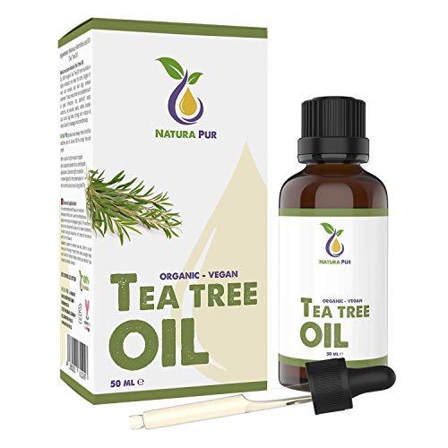 Natura Pur Aceite de Árbol de Té 50ml - 100% orgánico, puro y vegan