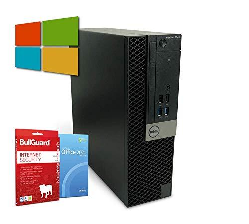 Dell OptiPlex 3040 SFF PC Computer | Intel Core i5-6400T@ 4X 2,2 GHz | 8 GB | 500 GB HDD | Windows 10 Pro | BullGuard | SoftMaker Office (Generalüberholt)