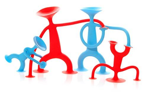 MOLUK 2843150 OOGI Family, elastische Stretch-Figuren mit Saugnäpfen, Spielfiguren-Set aus Silikon, kreativer Spielspaß für Kinder ab 3 Jahren, Motorikspielzeug, 4-teilig