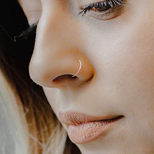 20 Gauge 6 8mm Sterling Silver Adjustable Metal Hoop Nose Ring