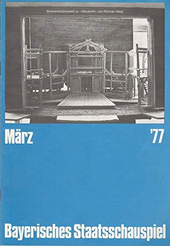 Programmheft Peter Shaffer EQUUS 4 März 1977 Cuvillies-Theater Heft März 1977
