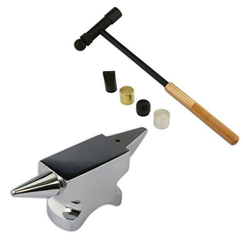 Juwelierwerkzeuge Horn, Amboss-Stahl, 6 Teile