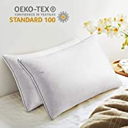 Viewstar Soft Pillows for Sleeping 2 Pack Down Alternative, Hotel Quality Queen Size Bed Pillows, Soft and Supportive Hypoallergenic Pillows for Side Back and Stomach Sleepers