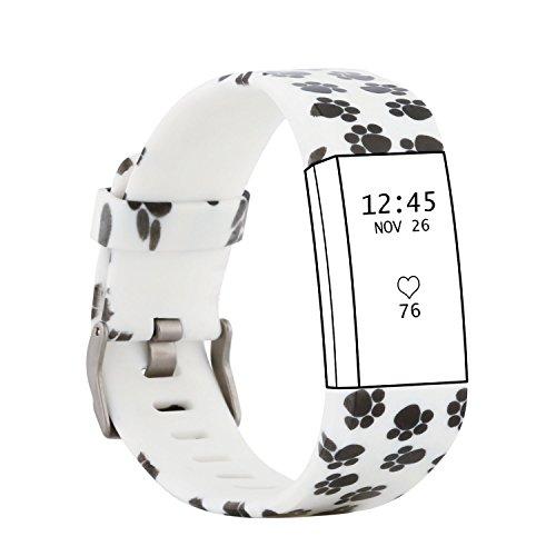 fit-power Laden 2Classic Zubehör für Fitbit Laden 2Herzfrequenz und Fitness Armband Ersatz Bands, Pattern B