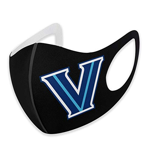 vipsung Reusable Fashion Villanova Wildcats Face Mouth Covering,Fashionable Washable Unisex Face Shield, Breathable Mouth Mouth Coverings for Cycling Camping Travel for Adult Men Women Black