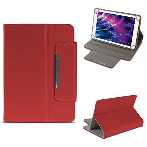 NAUC Tablet Tasche für Medion Lifetab P10603 P10606 P10602 X10605 X10607 X10311 X10302 X10301 P10400 P10506 Hülle Schutzhülle Case Cover Stand, Farben:Rot